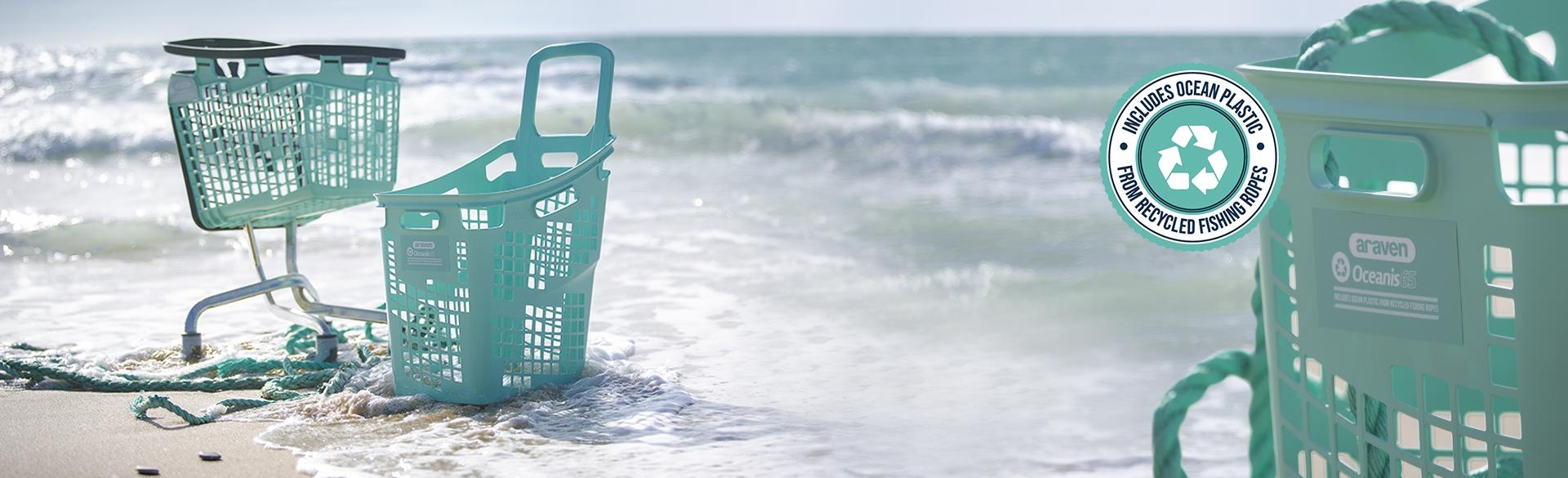 Carros y cestas de plastico oceano